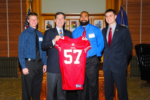 Joe Hastings, Governor Sam Brownback, Mike Wilhoite, Senator Garrett Love | by Love for Kansas