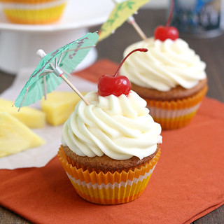 Pina Colada Cupcakes | by Tracey's Culinary Adventures