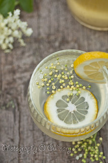 Elderflower cordial with lemon | by vanilllaph