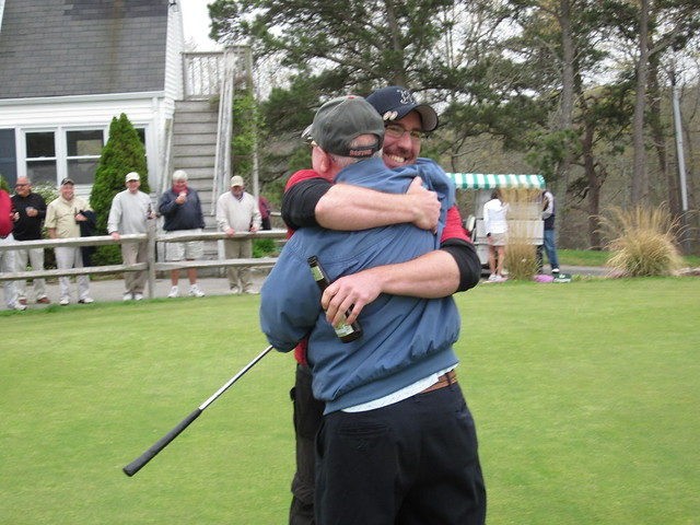 There's no hugging in golf!!!