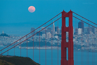 Supermoon on San Francisco | by flopper