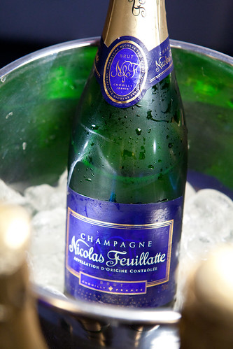 Bottle of Nicolas Feuillatte Brut NV Champagne in the ice bucket | by thewanderingeater