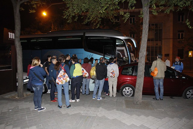 La afición de Movistar Estudiantes en San Sebastián