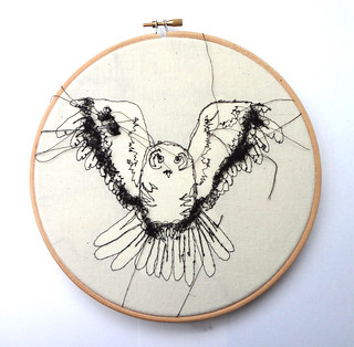 "Embroidery Owl 8"" Hoop 