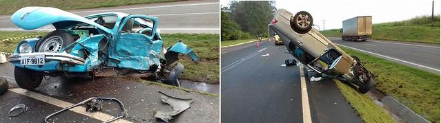 acidente br 376 fusca civic