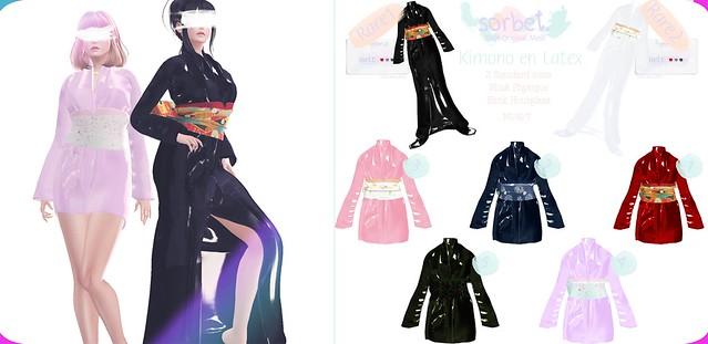 Sorbet. Kimono en Latex