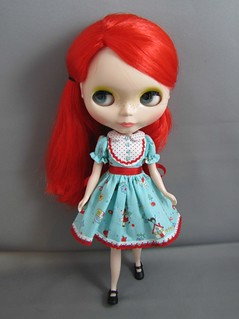 blythe blue folk dress | by DevoutDolls