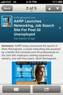 #AARP #WorkReimagined popped up in my LinkedIn app | by curiouslee