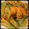 #ZucchiniBlossom #Mushroom #Potato Frittata  #Homemade #CucinaDelloZio - rinse blossoms and pat dry