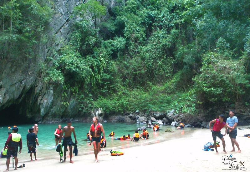 emerald cave trang hidden beach