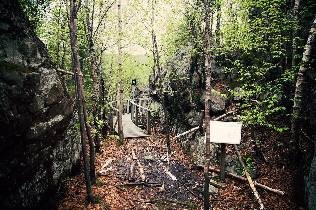 Sentier pédestre au parc d'Aiguebelle