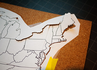 Travel Map Pin Board DIY 2 | by CieraHolzenthal
