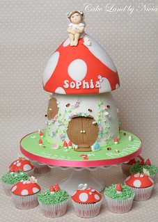 Fairy toadstool house cake | by CakeLand by Nivia