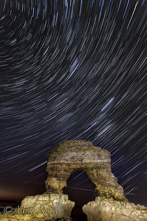 Startrails over the arch. | by Mike Ridley.