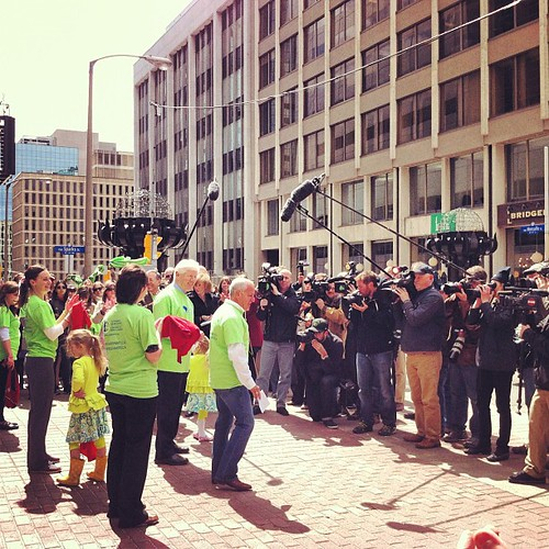 Media mob at the flash mob | by Lana Stewart