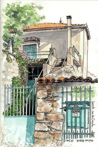 Maison bleue le rocher a luzech une petite maison flickr - Maison bleue mobel ...