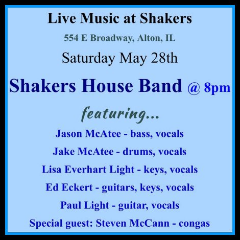 Shakers 5-28-16