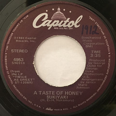 A TASTE OF HONEY:SUKIYAKI(LABEL SIDE-A)
