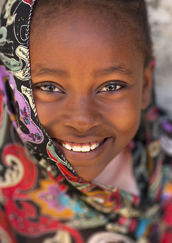 Portrait Of A Cute Girl In Lamu, Kenya | by Eric Lafforgue