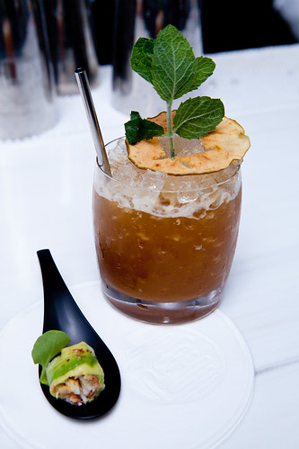 Ginger variation of Pimm's Cup and Alaskan King Crab Croustillant | by thewanderingeater