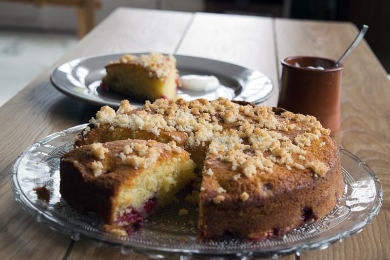 Gâteau aux framboises et noix de coco1