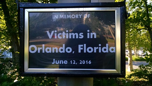 Remembering those who died in #OrlandoShooting in Greenbelt, Maryland.