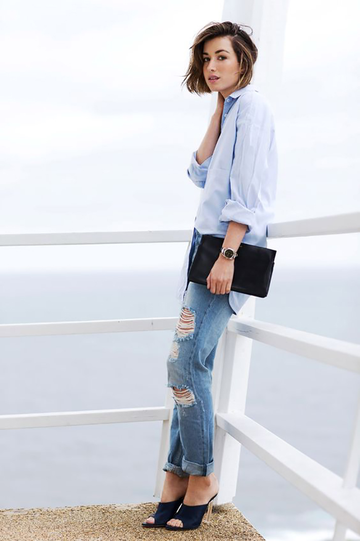blue light top inspiration street style fashion outfit4