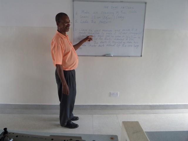 Kahindi sharing his knowledge