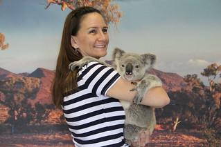 Nadine Cuddling a Koala