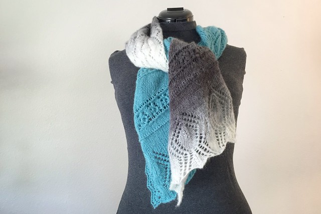 Knit Gradient Air Shawl