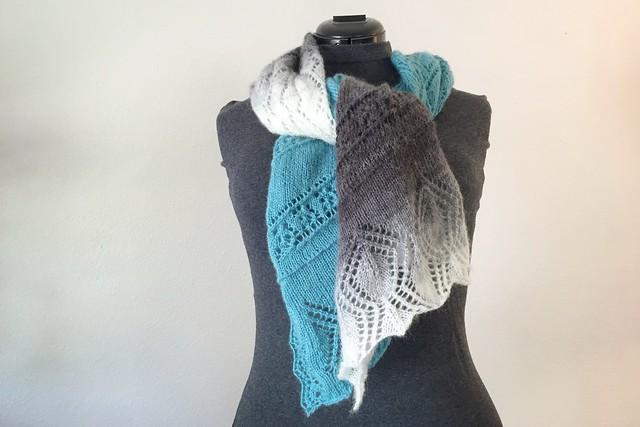 Knit Gradient Air Shawl