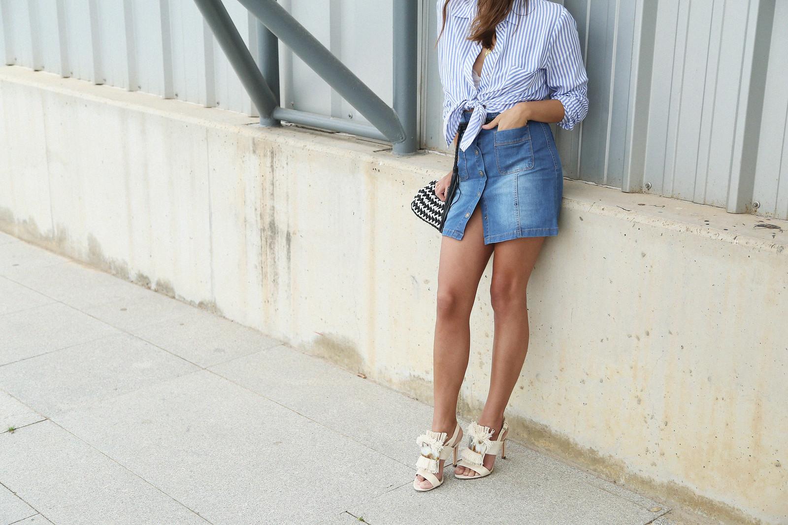 jessie chanes seams for a desire denim skirt stripes shirt-5