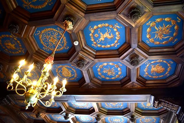 Dining Room Ceiling at Chateau de la Treyne | www.rachelphipps.com @rachelphipps