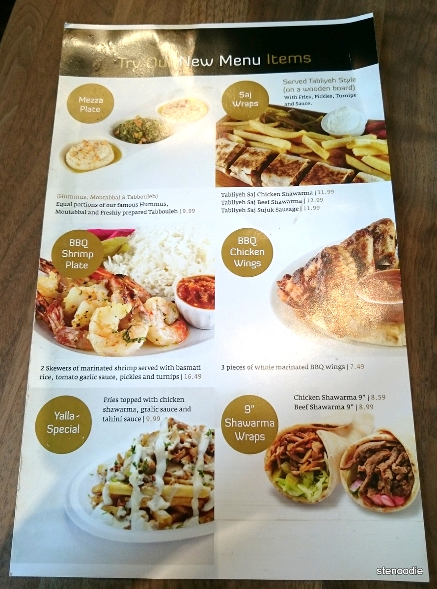 new menu items at Paramount Fine Foods