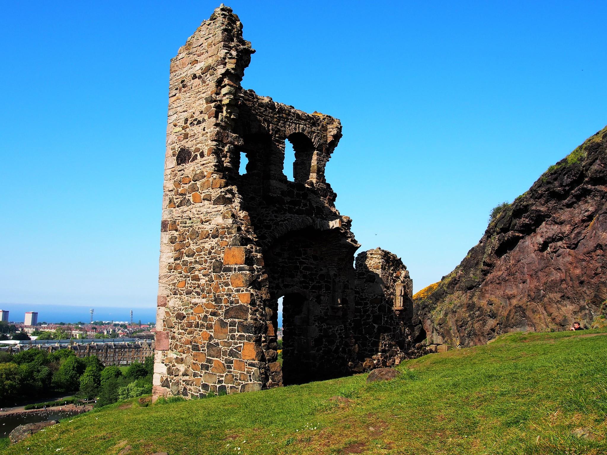 St Anthony's Chapel, Holyrood Park, Edinburgh, Scotland.