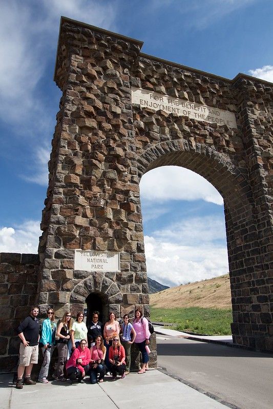 Group at Roosevelt Arch