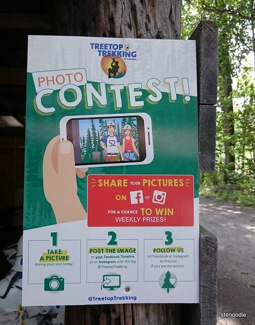 Treetop Trekking photo contest