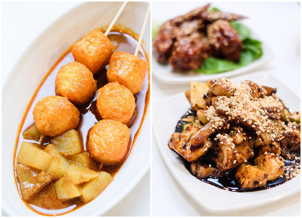 Penang Culture: Penang Curry Fish Balls (left), Penang Rojak (right)