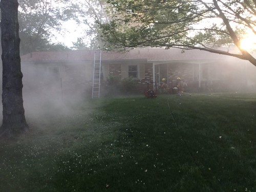 several photos from Blanchard Drive House Fire