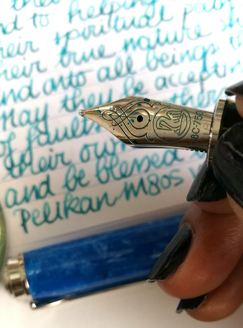 Pelikan M805 Vibrant blue with OS nickel teal