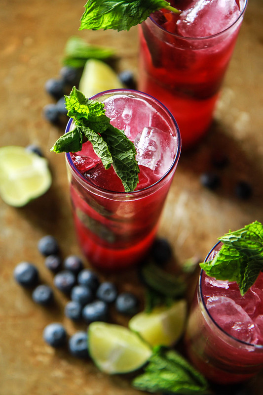 Blueberry Mojitos from HeatherChristo.com