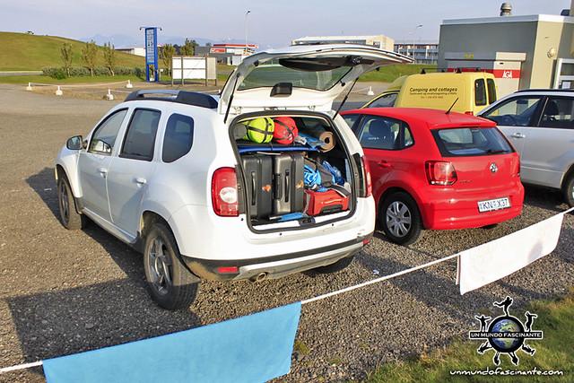 ISLANDIA - Dacia DUSTER cargado (Iceland, ísland)