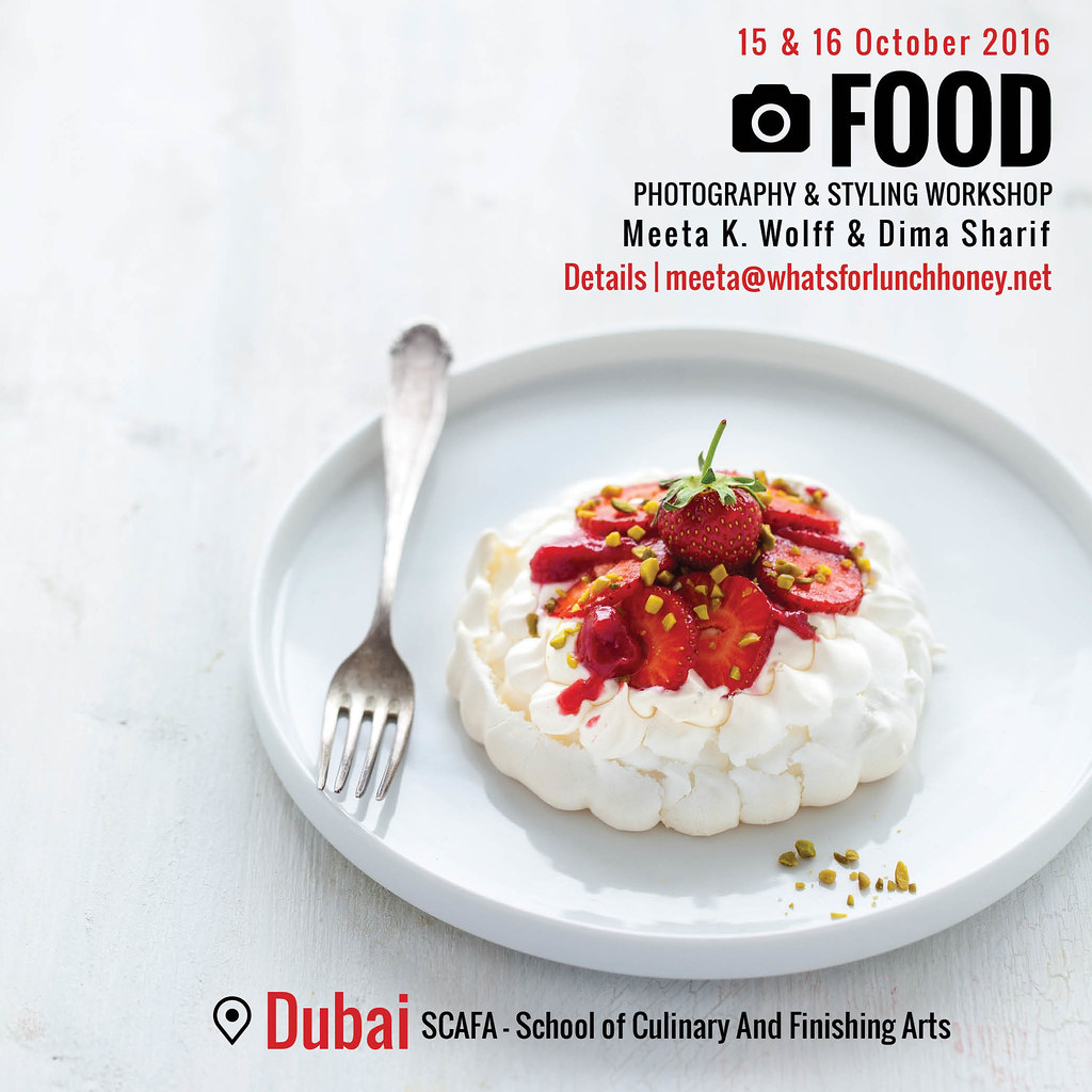 Dubai 2016 Food Photography and Styling Workshop