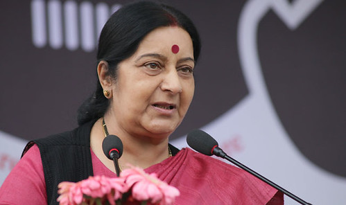 Indian external affairs minister Sushma Swaraj. From oneworldnews.com