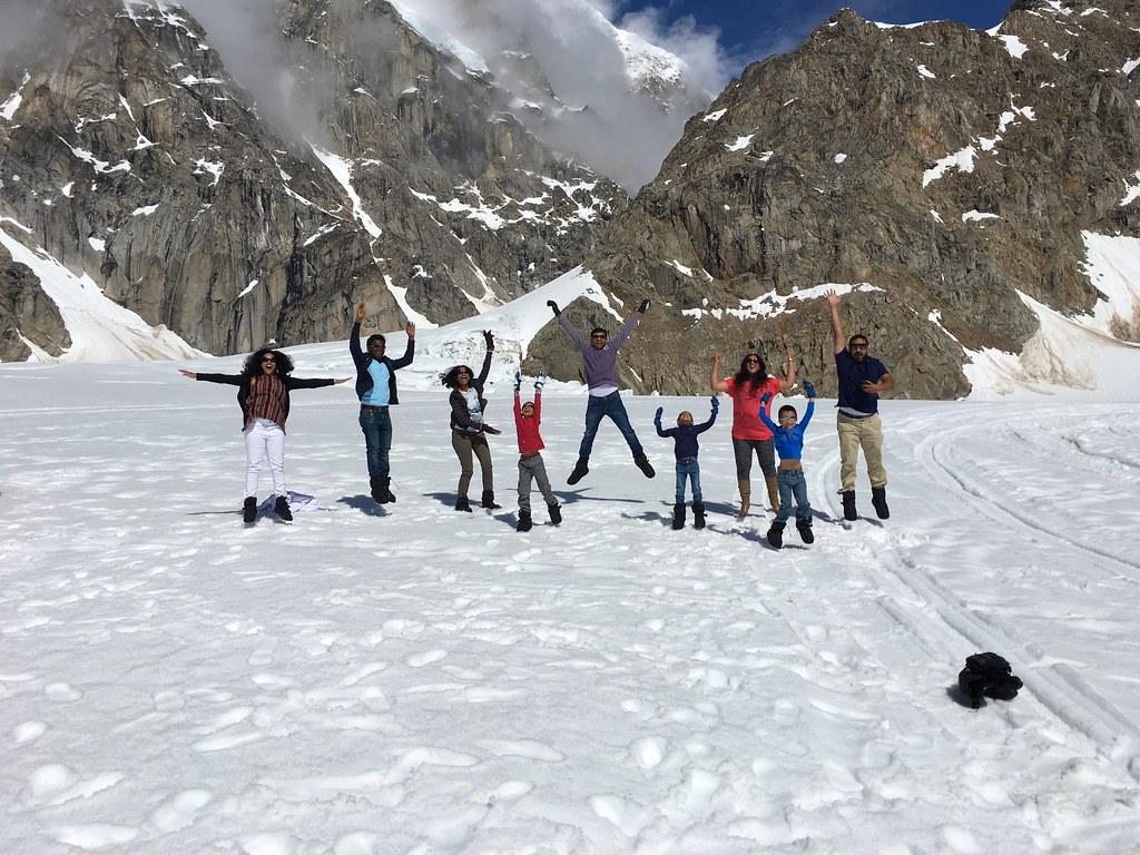 dancing on glacier Ruth