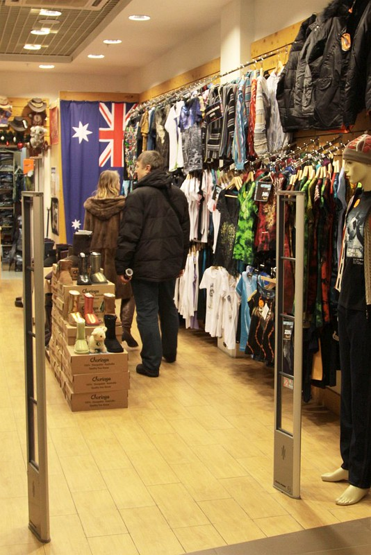 Inside 'Kangaroo' - an Australian themed store in Saint Petersburg