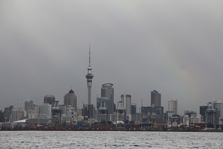 Auckland Skyline from Ferry to Waiheki