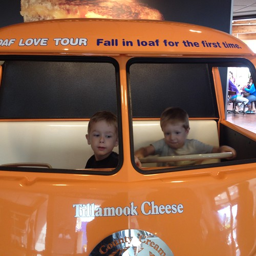 Driving at the Tillamook Cheese Factory