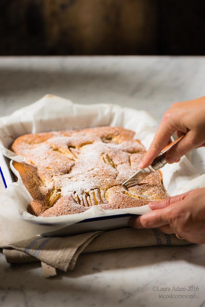 Torta morbida alle pere