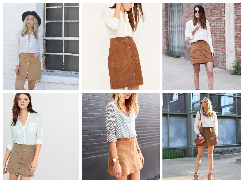 Suede Skirt Collage